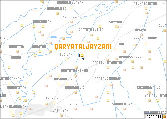 map of Qaryat al Jayzānī