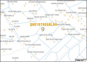map of Qaryat as Salām