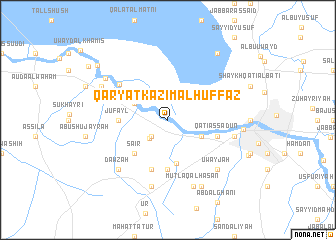 map of Qaryat Kāz̧im al Ḩuffāz̧