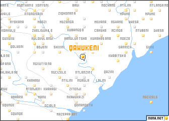 map of Qawukeni