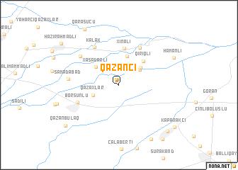map of Qazançı