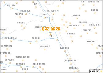 map of Qazıdǝrǝ