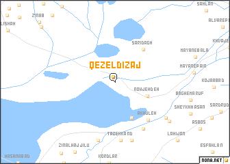 map of Qezel Dīzaj