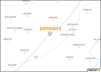 map of Qianhuaifu