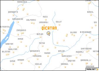 map of Qıçatan