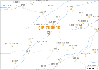 map of Qırızdǝhnǝ