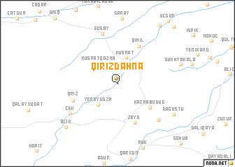 map of Qırızdǝhnǝ