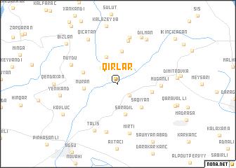 map of Qırlar