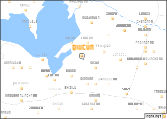 map of Qiucun