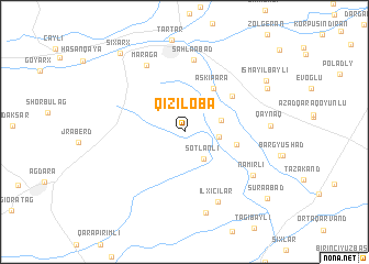 map of Qızıloba