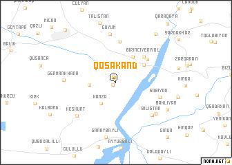 map of Qoşakǝnd
