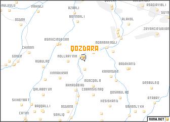 map of Qozdǝrǝ