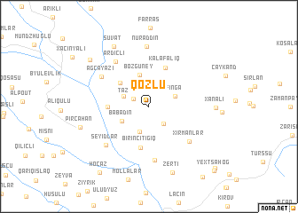 map of Qozlu