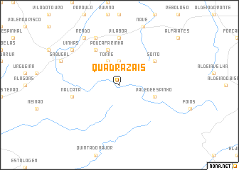 map of Quadrazais