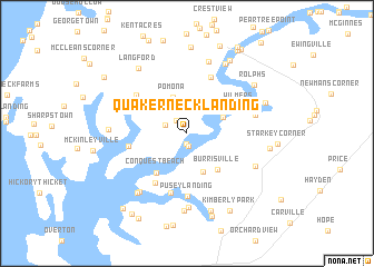 map of Quaker Neck Landing