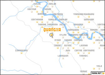 map of Quâng Xá