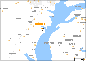 Quantico United States USA Map Nonanet - Virginia in usa map
