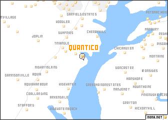 Quantico United States Usa Map Nona Net