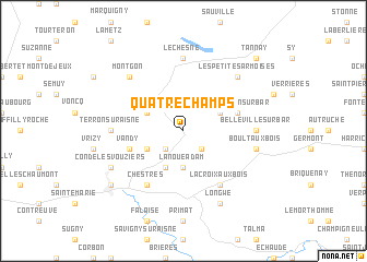 map of Quatre-Champs