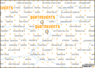 map of Quatre Vents