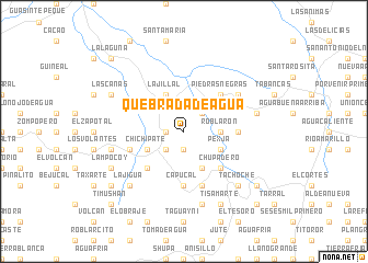 map of Quebrada de Agua