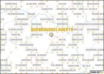 map of Quebrada del Muerto