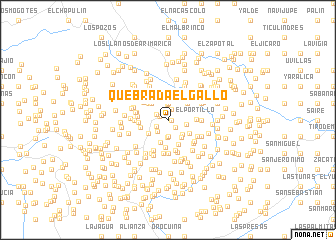 map of Quebrada El Gallo