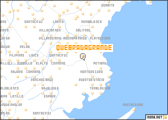map of Quebrada Grande
