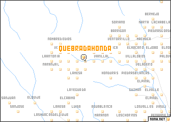 map of Quebrada Honda