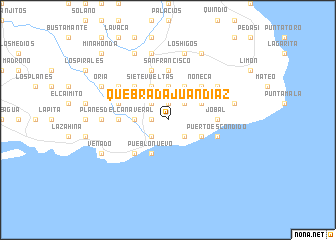 map of Quebrada Juan Díaz