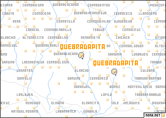 map of Quebrada Pita