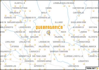 map of Quebrada Rica