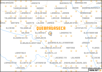 map of Quebrada Seca