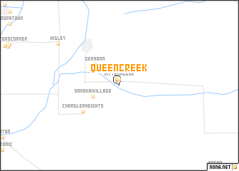 map of Queen Creek