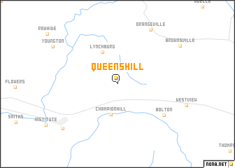 map of Queens Hill