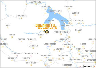 map of Quemadito