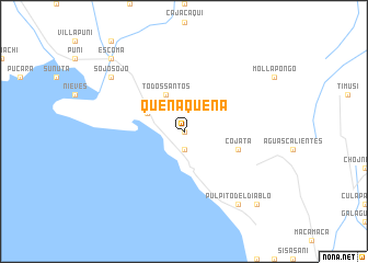 map of Quenaquena