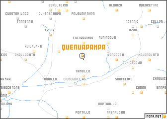 map of Queñuapampa