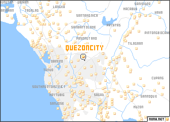 Quezon City Philippines map  nonanet