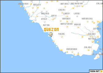 map of Quezon