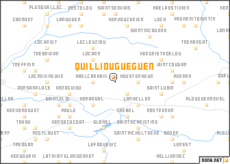 map of Quilliou-Guéguen