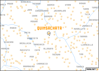 map of Quimsachata