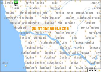 map of Quinta das Belezas