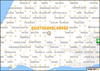 map of Quinta do Malhapão