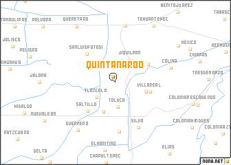 Quintana Roo Mexico Map Nona Net