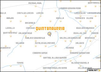 Quintana-Urria (Spain) map - nona.net on colindres spain, celorio spain, quintanilla spain, chueca spain, piedrahita spain, almodovar spain, samaniego spain,