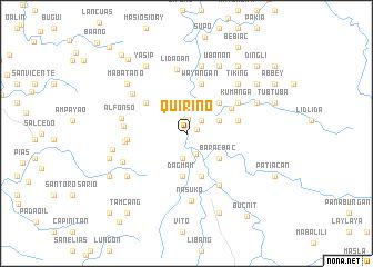 map of Quirino