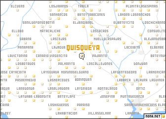 map of Quisqueya