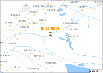 map of Qulubǝyli