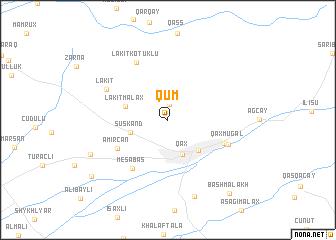 map of Qum
